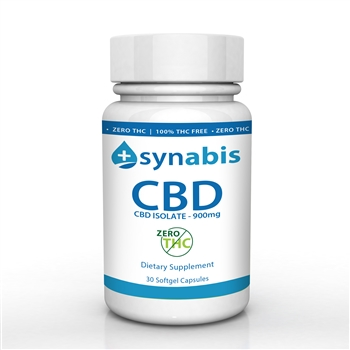 Synabis 900mg CBD 30 Softgel Pills -ZERO THC